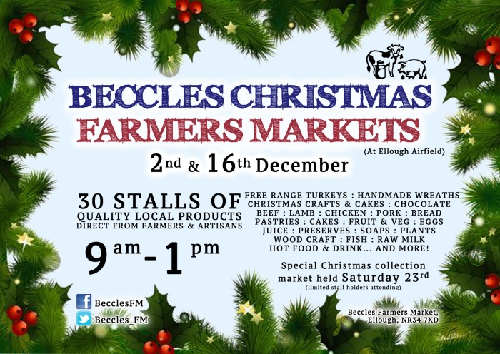 Christmas Market – SATURDAY 16th